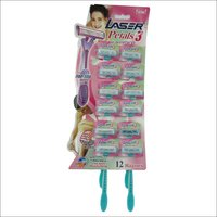 Laser Petals 3 Triple Blade with Aloe Vera Disposable Razor for Women (Pack of 12)