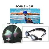 Imported Swimming Cap  Goggles Ear Plug Free Best Quality Black Color