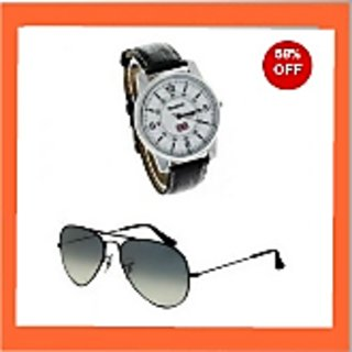 Buy 1 Get 1: Buy Reebok Wrist Watch And Get Aviator Sunglasses Free