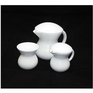 Metier Super White Bone China Tea Pot Set Dinner Set