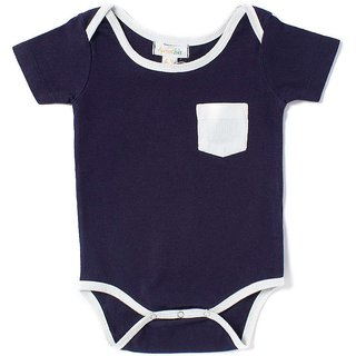 Apricot Kids Navy Romper For Baby Boys