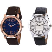 Gravity Roman Brown  White Mens Casual Analog Watches-09