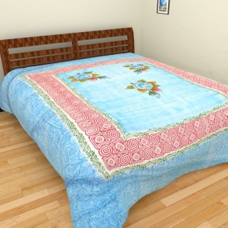 Spangle Embroidery work Cotton Bedcover
