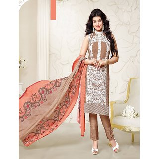 Thankar Blue And Olive Green Embroidered Georgette Straight Suit