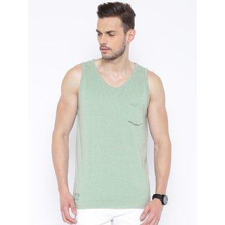 Cult Fiction Green Color Sleevless MenS T-Shirt