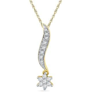 Ishis 18 Kt Artistic Yellow Gold Diamond Fashion Pendants (0.20 CT)