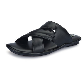 Engine Men Black Stylish Sandals