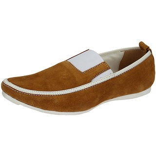Breezers Men's Brown Stylish Loafers