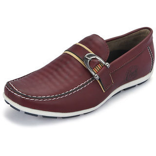 Italiano Men's Red Stylish Loafers