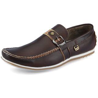Italiano Men's Brown Stylish Loafers - Option 4