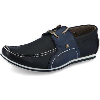 Italiano Men's Black & Blue Casual Stylish Shoes