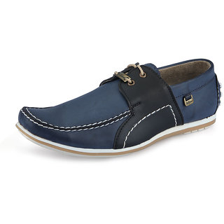 Italiano Men's Black & Blue Casual Shoes