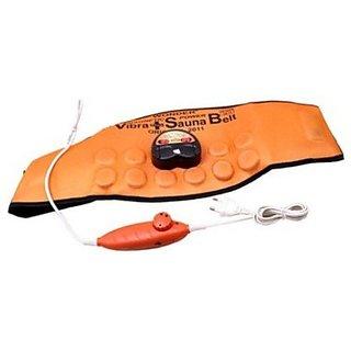 3 in 1 Sauna Vibrating Magnetic Slimming Belt - Orange