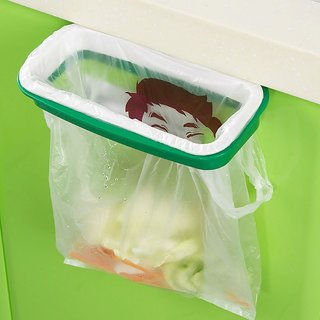 Urban Living Hanging Kitchen Cupboard Garbage Rubbish Trash Storage Bag Holder Folding Hanging Stand Kitchen Tool available at ShopClues for Rs.499