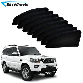 SkyWheels UV Car Sun Shades for Mahindra Scorpio 2014-20168