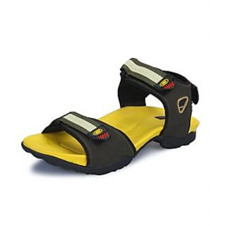 Elvan Men's Olive Yellow Sandals