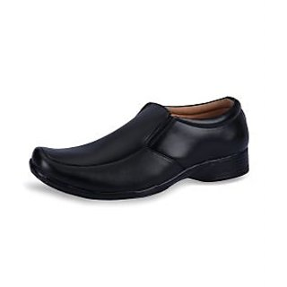 Force Hill Men's Black Formal Shoes - Option 12