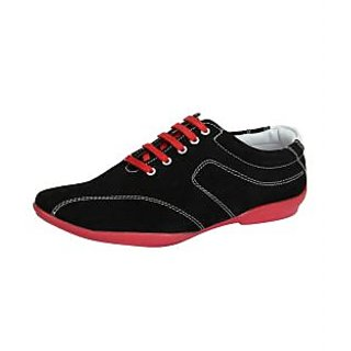 Loochi Men's Black Casual Stylish Shoes