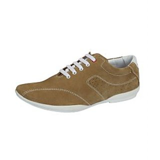 Loochi Men's Beige Casual Shoes