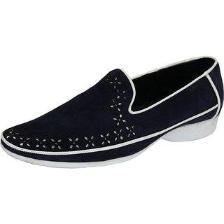 Skin Men's Navy Loafers