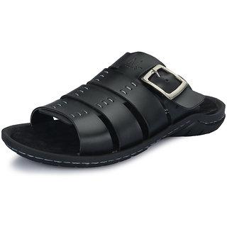 Roony Men Black Stylish Sandals