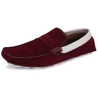 Sharon Men's Red Stylish Loafers