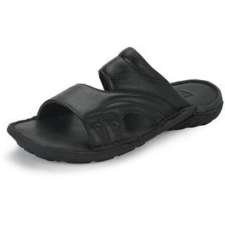 Skin Men Black Stylish Sandals