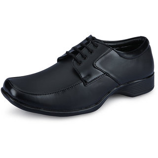 Well Mart Men Black Office Wear Formal Shoes