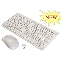 Multimedia Wireless Portable Mini Keyboard+Mouse For Laptop & Desktop