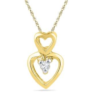 Ishis 18 Kt Beautiful Yellow Gold Diamond Fashion Pendants (0.02 CT)