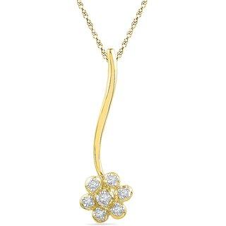 Ishis 18 Kt Fabulous Yellow Gold Diamond Fashion Pendants (0.05 CT)
