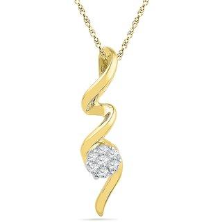 Ishis 18 Kt Pretty Yellow Gold Diamond Fashion Pendants (0.12 CT)
