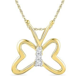 Ishis 18 Kt Ethnic Yellow Gold Diamond Fashion Pendants (0.05 CT)