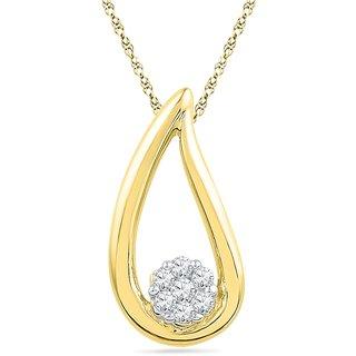 Ishis 18 Kt Designer Yellow Gold Diamond Fashion Pendants (0.05 CT)
