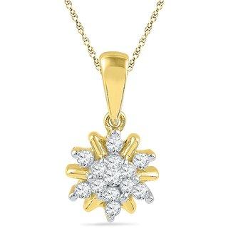 Ishis 18 Kt Ethnic Yellow Gold Diamond Fashion Pendants (0.16 CT)