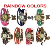 7 Days- 7 Feng Shui Colors -  Vintage Bracelet Watches