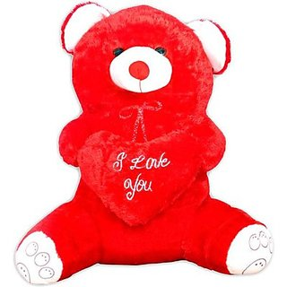 Deals India Musical Red Fat Crazy Teddy - 24 inch (Red)