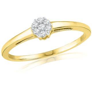 Ishis 18 Kt Designer Yellow Gold Diamond Fashion Ring (0.08 CT)