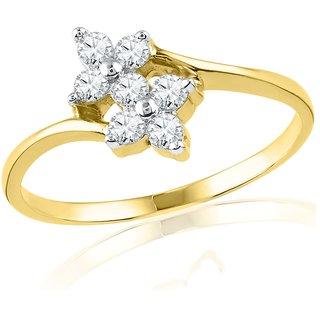 Ishis 18 Kt Elegant Yellow Gold Diamond Fashion Ring (0.20 CT)