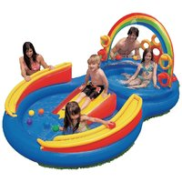 INTEX Inflatable Kids Rainbow Ring Water Play Center-57453EP