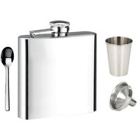 Hpk Hip Flask With Glass, Funnel & Spoon (CODE-HPK001A)