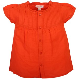 Apricot Kids Orange Top For Baby Girls