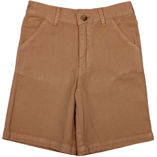 Apricot Kids Light Brown Shorts For Boys