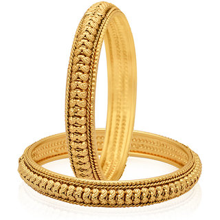 Jewels Galaxy Gold Plated Gold Alloy Bangles For Women