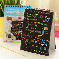 Premium QualityScratch Paper Note For Kids Stationery Journal With Wooden Stylus