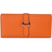 Kleio Leatherite Orange Women Clutch