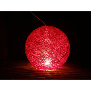 Thread  Lampshade Hanging Ball Lamp With Red Colour