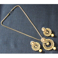 Golden Drop small Polki Chain Necklace Set