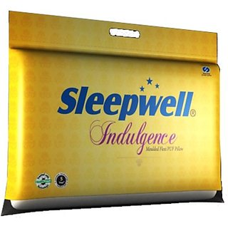 EAGLE BEDDINGMART solid Bed/Sleeping Pillow Pack of1, White
