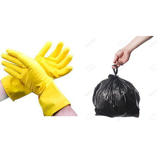compare 16x20 100 garbage bag with cleaning glove price online india comparometer. Black Bedroom Furniture Sets. Home Design Ideas